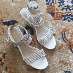 Genuine leather white via spiga sandals